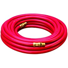 "Amflo 512-25E Red 300 PSI Rubber Air Hose 1/4"" x 25' With 1/4"" MNPT End Fittings"