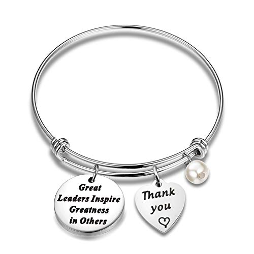 Mentor Bag - FUTOP Boss Gift Great Leaders Inspire Greatness in Others Keychain Thank You Gift for Supervisor, Mentor (Leader Bracelet)