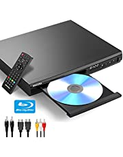 Blu Ray Player, Blue Ray DVD Player for Tv with Hdmi, Coaxial Jack USB Input, HDMI & AV Output, Remote Control, Blu-Ray Discs Only Support Region A/1(Non-Blu ray Disc All Region Free)