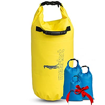 Meerkat Dry bag and three ditty sacks 20L, 8L, 4L and 2L. Water protection for your gear and electronics for Kayaking, Canoeing, Water Sports, Camping and Hiking. By