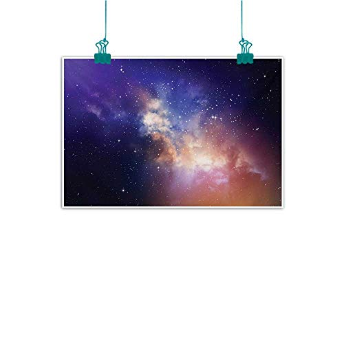 Modern Oil Paintings Space Stars in Sky Supernova Comet Constellation Universe Meteor Planetary Image Modern Minimalist Atmosphere W31 xL24 Dark Blue Purple