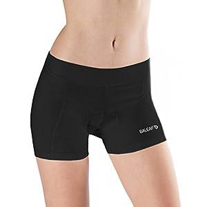 Baleaf Women's 3D Padded Cycling Brief Underwear Shorts Black Size M