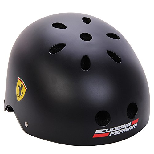 Ferrari Classic Commuter Bike and Inline Skate Helmet Black ()