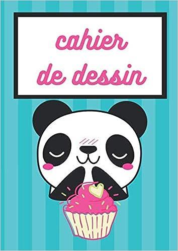 Cahier De Dessin Carnet De Dessin Pour Enfant A4 Theme Panda Kawaii Cadeau Pour Anniversaire Noel Enfant Fond Bleu Canard Format A4 21x29 7 Cm 100 Pages Amazon Fr Mini Panda Kawaii