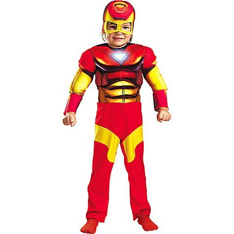 Iron Man Toddler Muscle Costume,S