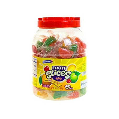Individually Slices Wrapped (Individually Wrapped Assorted Fruit Slices Jar (5 lbs.))