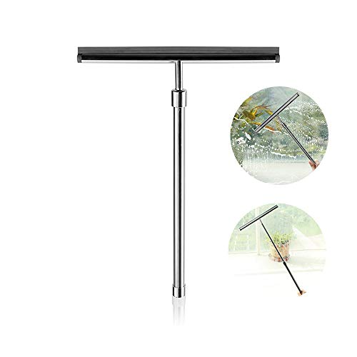 YXMxxm Shower Squeegee for Window and Shower Door - with Telescoping Handle Extends to 23 Inches + 1 Replacement Silicon Blade