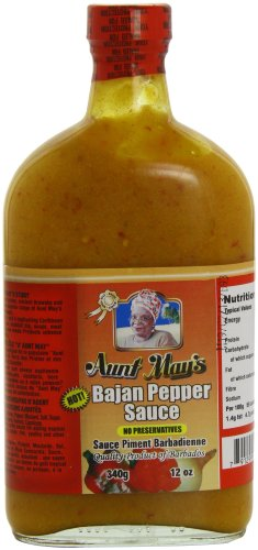 Aunt May's Hot Bajan Pepper Sauce 12 Oz