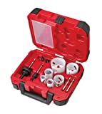 Milwaukee 49-22-4095 Electricians Ice Hardened Hole Saw Kit, 10-Piece