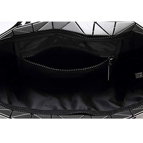 Bolso La Plegable Negro Geometría Personalidad De Rombal Cubo Estéreo rwaRTrqp