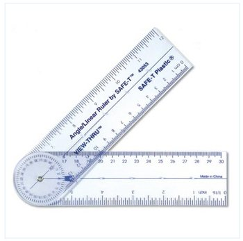 22 Pack LEARNING RESOURCES SAFE-T ANGLE/LINEAR RULER