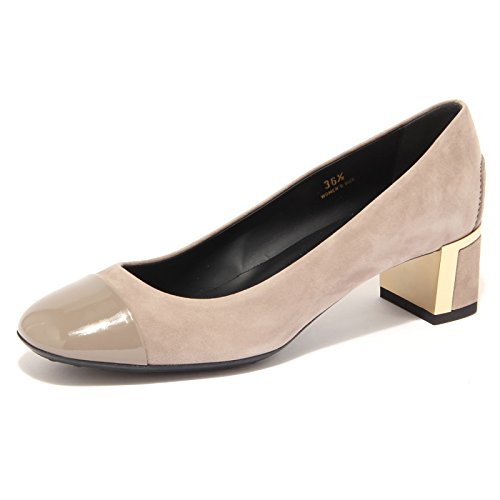 T 76726 50 Scarpa Gomma Shoes Tortora Decollete Donna Tod's Vintage PT Women wtdpffq