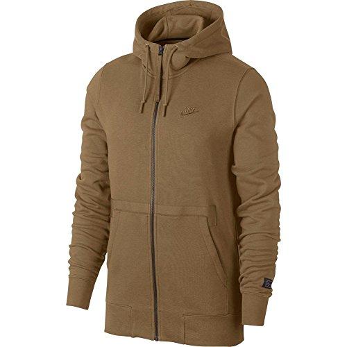 NIKE Men's Sportswear AF1 Full-Zip Jacket Hoodie Beige Size XL (Zip Faith Hoodie)