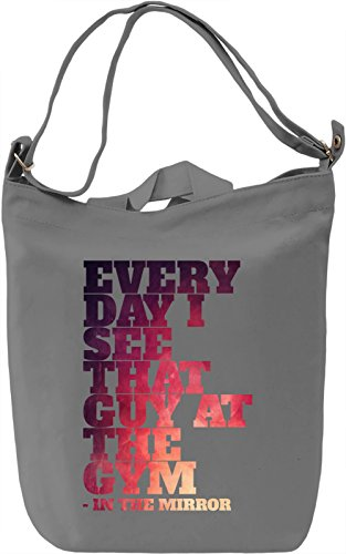 Gym Guy Borsa Giornaliera Canvas Canvas Day Bag| 100% Premium Cotton Canvas| DTG Printing|