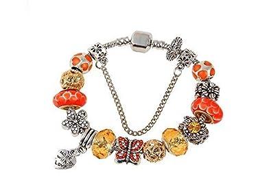 pandora bracelet orange charm