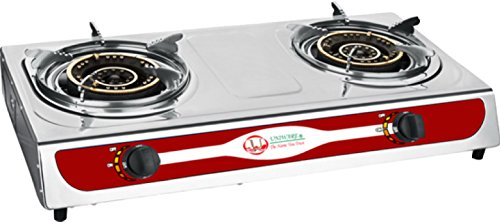 6005 Uniware Stainless Steel Double Burner Portable Gas P...