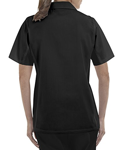 ChefUniforms.com Women's Kitchen Shirt with Mesh Sides (XS-3X, 2 Colors) (Large, Black) by ChefUniforms.com (Image #2)