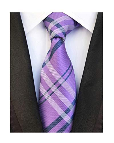 Background Black Necktie (Lilac Purple Navy Gingham Seft Tie Woven Narrow Party Cool Necktie 3.15