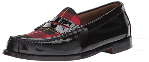 Gh Bass & Co. Mens Larson Penny Loafer Nero / Rosso