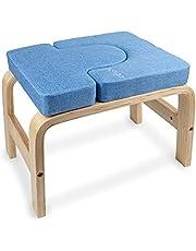 Myga Yoga Kruk voor Hoofdstand - Multifunctionele Yoga Sport Inversie Stoel Bank voor Headstand - Yoga Aids Headstander Oefening Body-Lift Prop Ideaal voor Workouts, Fitness, Gym en Stress Relief