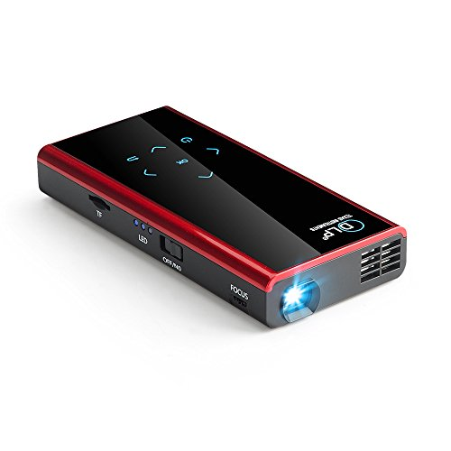 Authentic mini portable dlp projector support wifi for Bluetooth projector for iphone