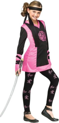 Girls Pink Ninja Costumes (Dragon Ninja Girl Kids Costume)