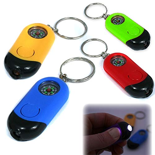 POSTLER HANS GMBH & CO. KG LED-Taschenlampe mit Kompass und Schlüsselanhänger in versch. Farben [Spielzeug] Hans Postler
