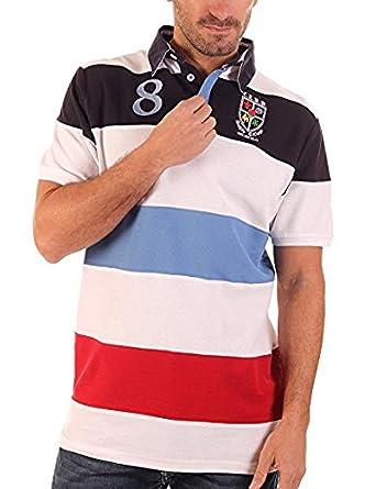 CLK Polo - Polo Piqué Rugby De Rayas De Manga Corta Multicolor ...