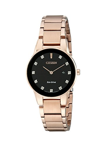 Citizen Eco-Drive Women's GA1058-59Q Axiom Rose Gold Watch