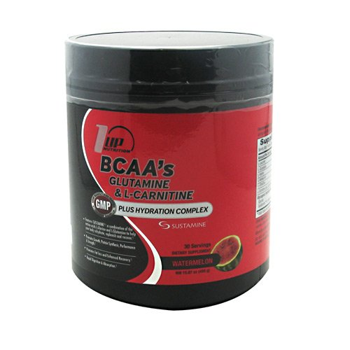 1 UP Nutrition BCAA's Glutamine and Lcarnitine, Watermelon, 450 Gram