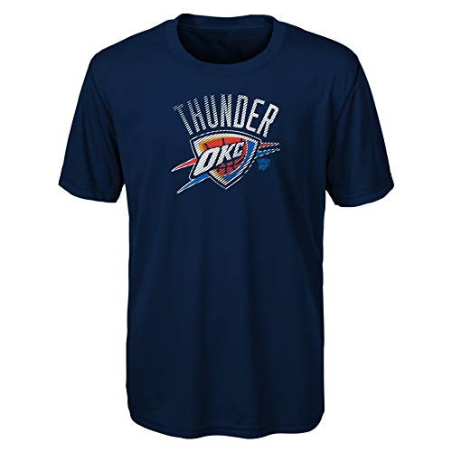 NBA Oklahoma City Thunder Kids & Youth Boys Motion Offense Short Sleeve Performance Tee, Large (7), Dark Navy