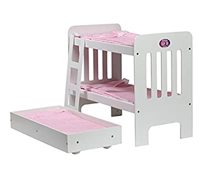 Amazon Com Cinderella Usa Trundle Doll Bunk Beds With Ladder