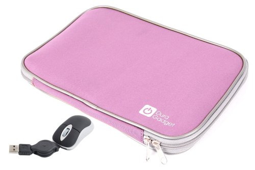 duragadget-pink-travel-water-resistant-shock-absorbent-neoprene-laptop-carry-case-with-dual-zips-for