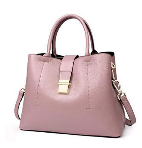 Messenger Bandoulière Capacité color Bag En À Pink Pour Pink Wild Femme Grande Sac Ploekgda Cuir x8vZwCES