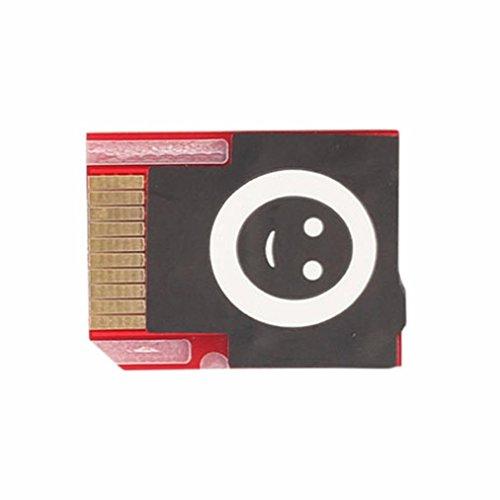 Mchoice SD2VITA PSVSD Micro SD Adapter for PS Vita Henkaku 3.60 Support All SD Card (Red)