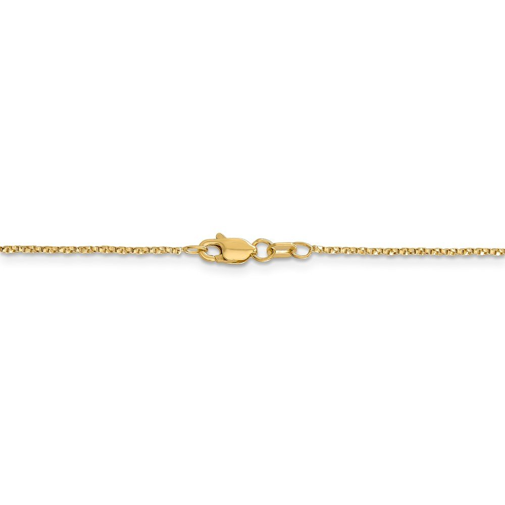 ICE CARATS 14k Yellow Gold .95mm Twisted Link Box Chain Necklace 18 Inch Fine Jewelry Gift Set For Women Heart by ICE CARATS (Image #6)