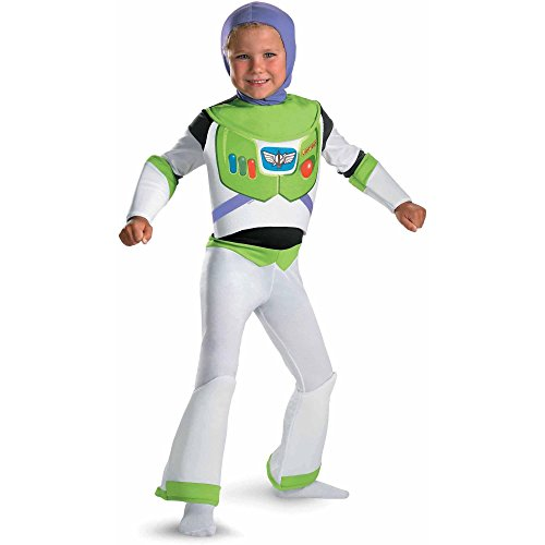 Toy Story Buzz Lightyear Deluxe Child Dress Up Role Play Costume (Medium 8) (Buzz Lightyear Costume Girls)