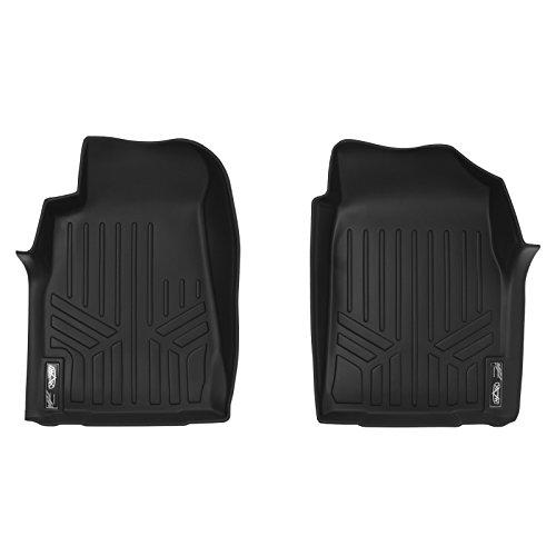 SMARTLINER Floor Mats 1st Row Liner Set Black for 2012-2014 Chevrolet/Isuzu D-Max
