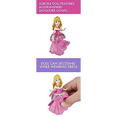 Disney Princess Aurora Doll with Royal Clips Fashion, One-Clip Skirt: Toys & Games
