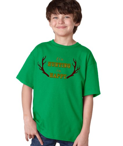 IF I'M HUNTING, I'M HAPPY Youth T-shirt / Funny Deer Hunting Hunter Tee