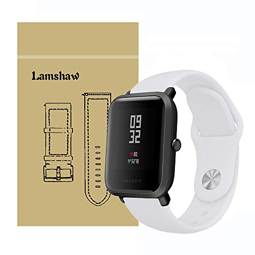 for Xiaomi Amazfit Bip Band, Lamshaw Sport Silicone Replacement Strap for Xiaomi Huami Amazfit Bip Younth Watch (Pure White)