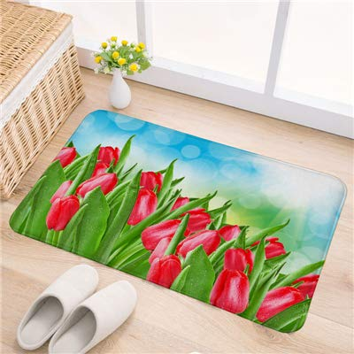 - Chair Mats for Carpeted Floors Tulip Sunflower Printed Floor Mat Door Mats Indoor Entrance Anti-Slip Mats for Living Room Mat Decorative Chair Floor Rug Carpet
