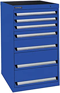 """product image for Kennedy Manufacturing 61407BL Modular Drawer Cabinet, 24"""" Length, 24"""" Width, 40"""" Height, 7 NS Drawers, Classic Blue"""