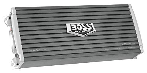 (BOSS Audio AR2500M - Armor 2500 Watt, 2/4 Ohm Stable Class A/B, Monoblock, Mosfet Car Amplifier with Remote Subwoofer)