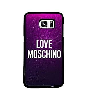 designer fashion 42c0e b3cf8 I Love Moschino Samsung Galaxy S7 Edge Coque Case: Amazon.fr: High-tech