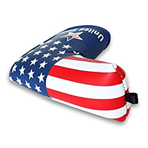 Craftsman Golf Stars and Stripes Golf Putter Club Head Cover Headcover for Scotty Cameron Odyssey Blade Callaway Taylormade Titleist Ping Mizuno by Craftsman Golf