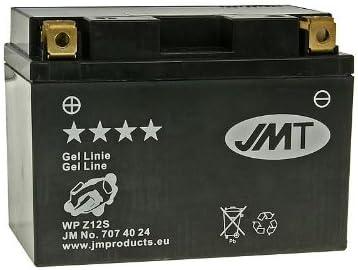 inkl 7,50 EUR Batteriepfand Batterie JMT Gel JMTZ12S f/ür Honda XL 650 V Transalp Bj 2006-2007