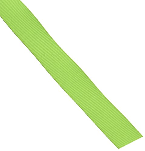 Creative Ideas 50-Yard Solid Grosgrain Ribbon, 5/8-Inch, Apple Green