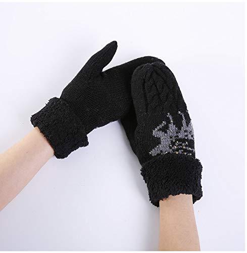 Unique Noir Gant Femme Taille Acvip RwSH7x