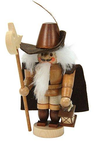 German Christmas Nutcracker Mini Nightwatchman natural colors - 12,0 cm / 5 inch - Christian Ulbricht